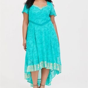 HER UNIVERSE JASMINE PEACOCK GREEN DRESS